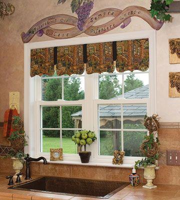 Treatments For Tuscan Kitchen Windows Judi S Tuscan Curtains