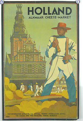 Holland Alkmaar Cheese Market  1930's