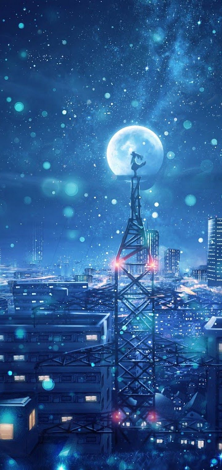 Oppo A3s Wallpaper Hd Anime Night Sky City Stars Anime Scenery 4k Wallpaper 135 Oppo A3s Wallpapers Hd In 2020 Anime Scenery Scenery Wallpaper Anime Wallpaper Iphone