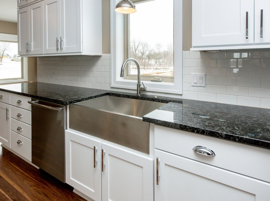 Modern Kitchen With Farmhouse Sink Stainless Steel Apron
