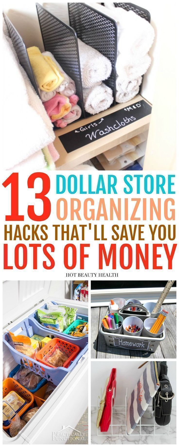 Declutter your home and get organizes with my list of 13 DIY Dollar Store organizing hacks These tips and tricks are also great if you are on a budget Click here to get s...