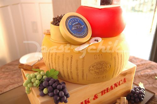 Wine Cheese Themed Wedding Cake Italian Party Cakes and fun