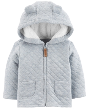 8441d548ac71 Carter s Baby Boys Hooded Quilted Jacket - Blue 12 months