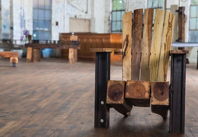 Adirondack Chair Made From Old Railroad Ties By Rail Yard Studios