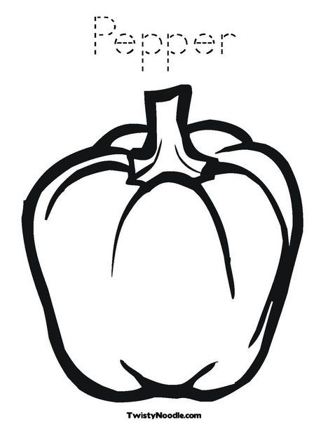 Pepper Coloring Page Vegetable Coloring Pages Stuffed Green Peppers Fruit Coloring Pages
