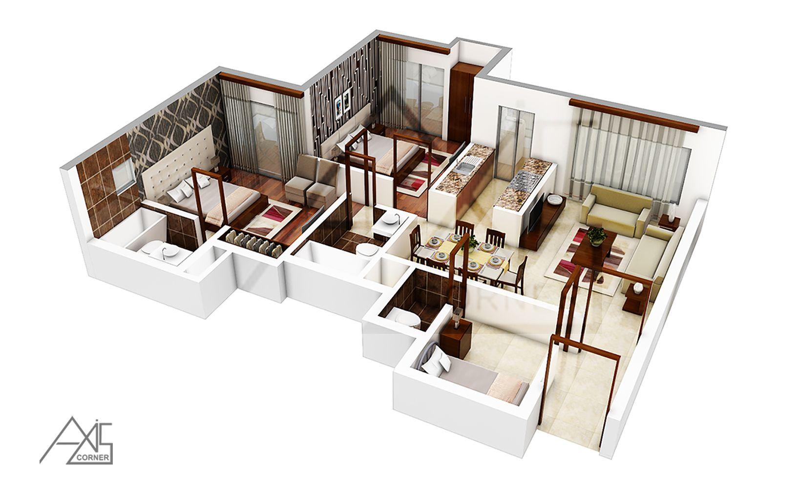 Get The Best 3d Floorplan Rendering Services India Rendered