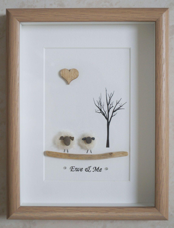 Pebble Art framed Picture - Sheep - Ewe & Me   Pebble art, Etsy and ...