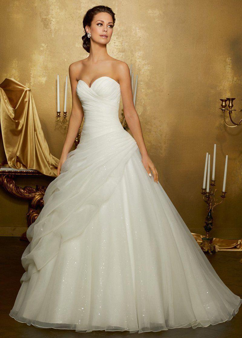 Wedding Dresses Simple, Fantastic Organza & Sequin Tulle