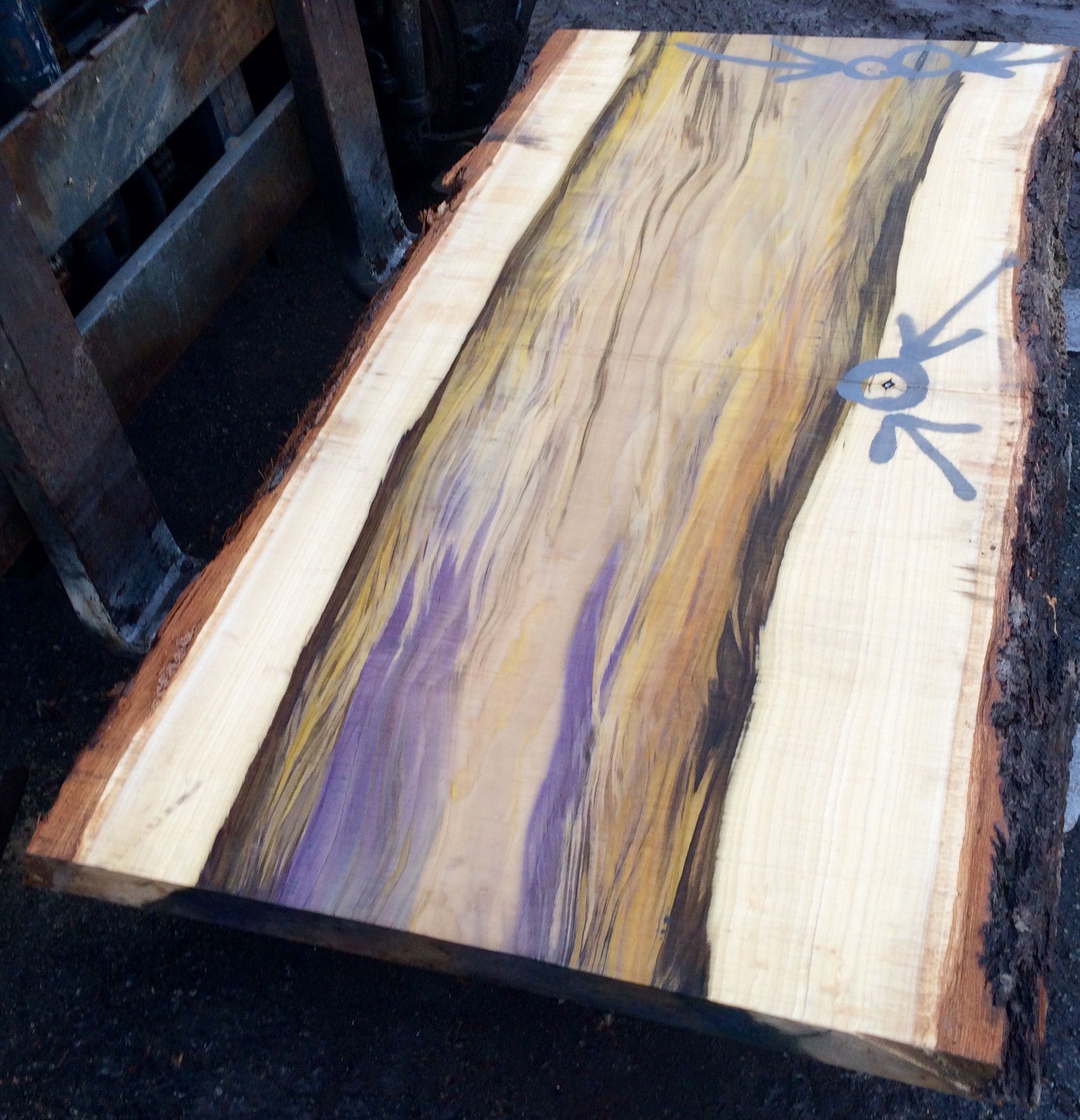 Eutree Forest Free Live Edge Poplar Slab For Tables And Countertops