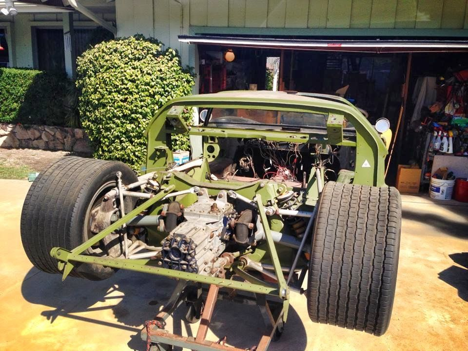 Ford Gt40 Mk1 1966 P 1067 With Mk2 Rear Clamshell Barnfind Ford Gt40 Gt40 Ford