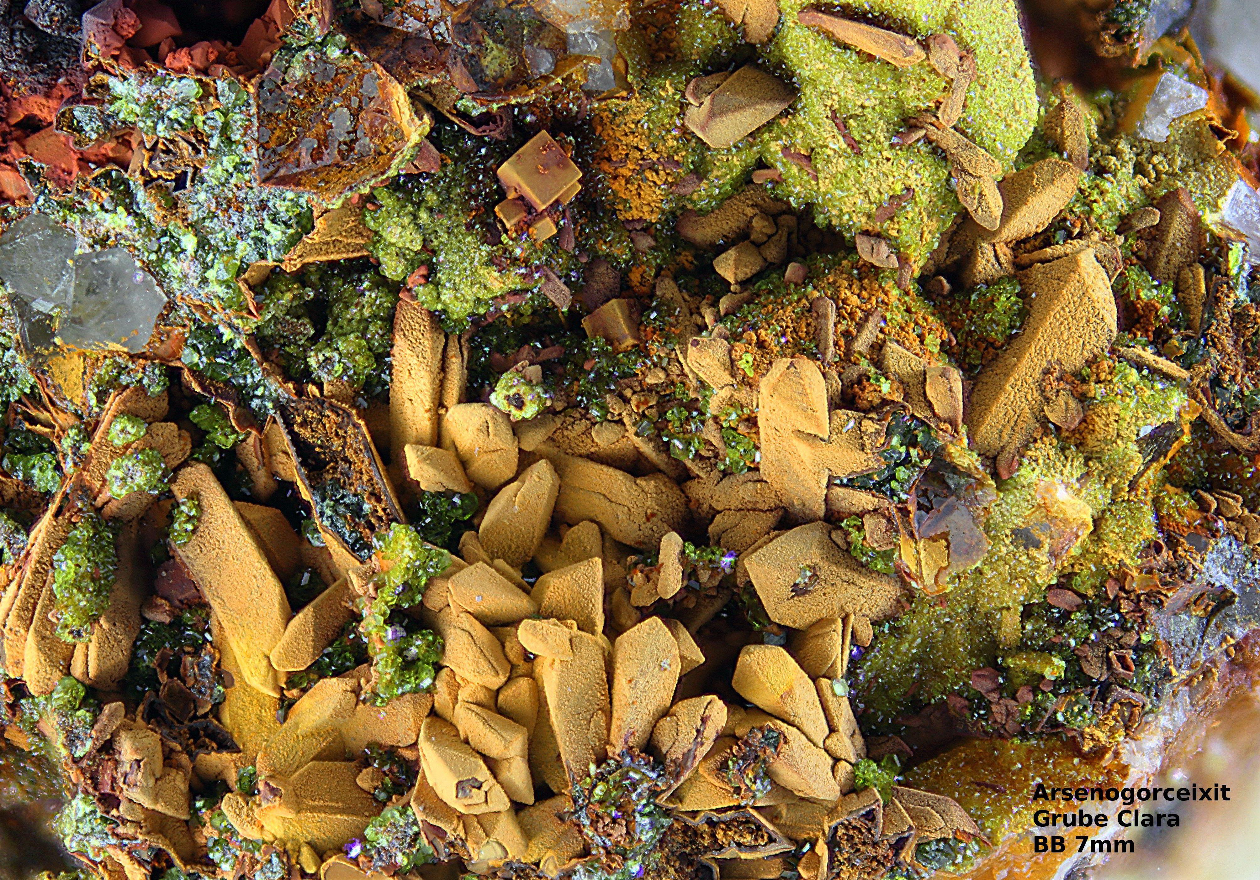 Arsenogoreixit    Clara Mine, Rankach valley, Oberwolfach, Wolfach, Black Forest, Baden-Württemberg, Germany Copyright © Stoya