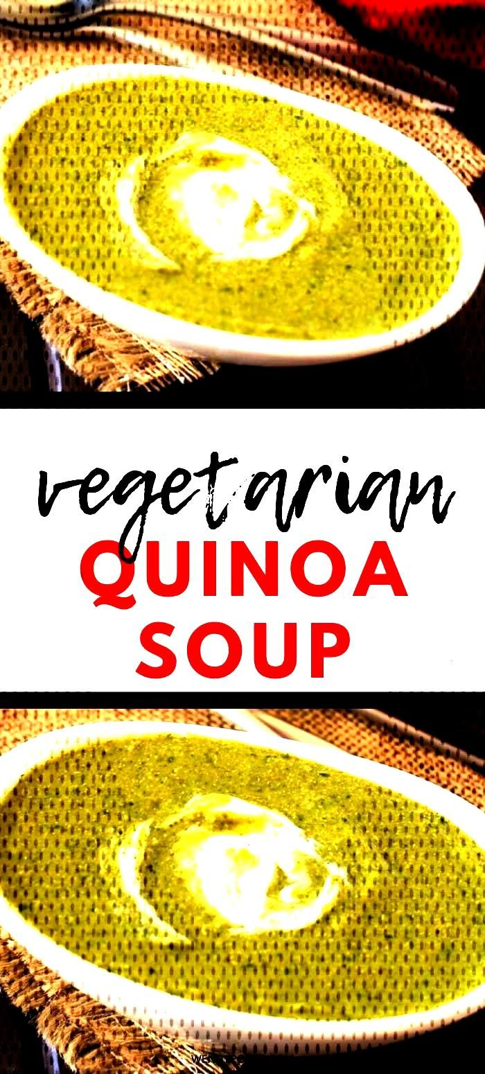 Broccoli Spinach Quinoa Soup Comfort food doesnt get any tastier - or healthier - than this Brocco