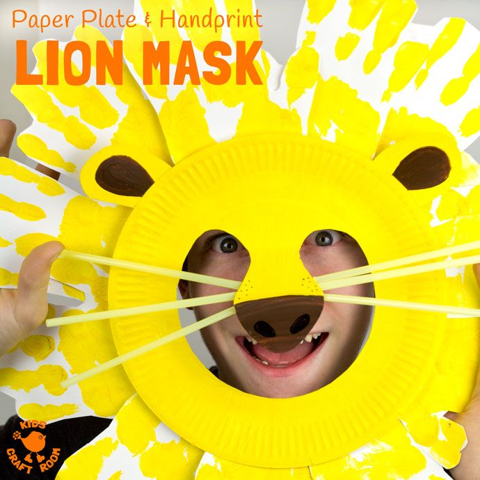 Kids will love adorable Handprint and Paper Plate Lion Masks. These easy animal masks are fun for the dress up box and a great way to inspire dramatic play. & TOY MAKING STEM ACTIVITIES | Lion mask Animal masks and Craft