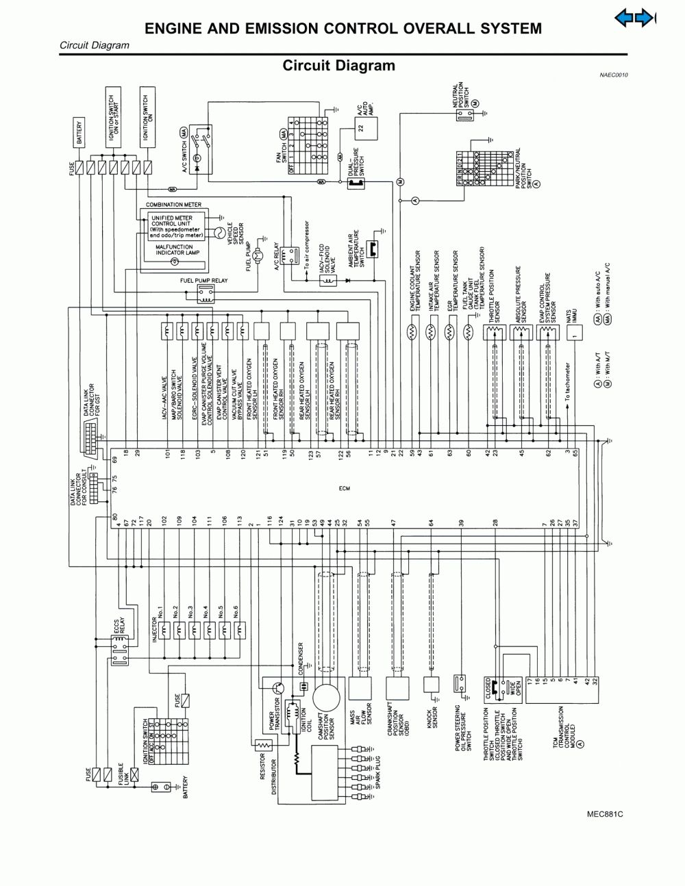 Nissan Wiring Harness Diagram Simple Electrical 2014 Altima S Cargo Circuit Schematic Leaf 2013