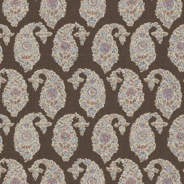 RALPH LAUREN BOUDIN Paisley Cotton Linen Fabric 10 Yards Brown ($1,100) ❤ liked on Polyvore
