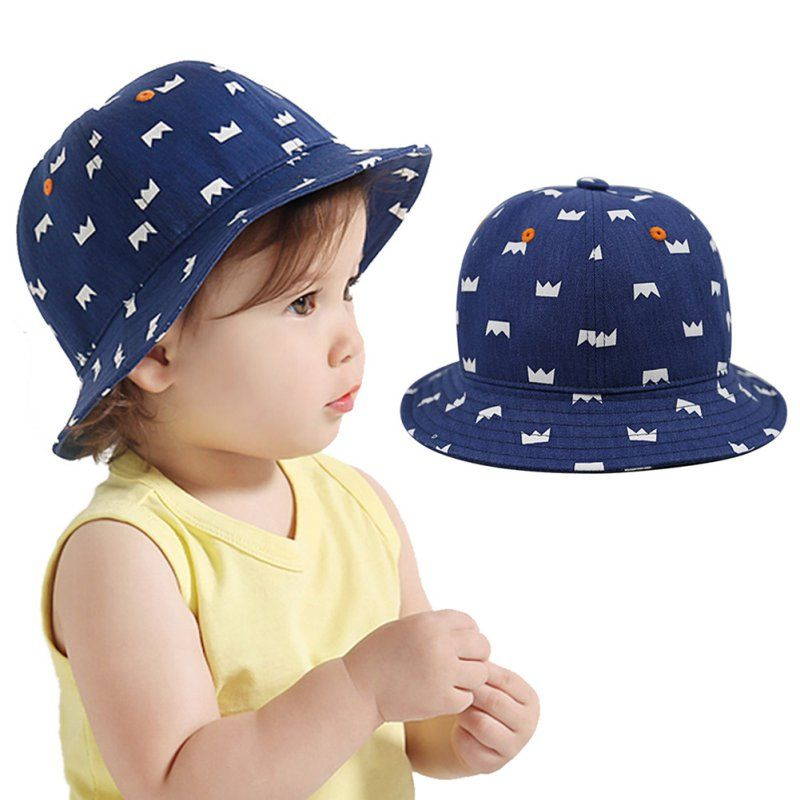 20b2cca6ba5 Toddler Kids Cute Cotton Crown Print Hat Baby Newborn Infant Boy Girl Cap  Beanie 6-12M  Affiliate