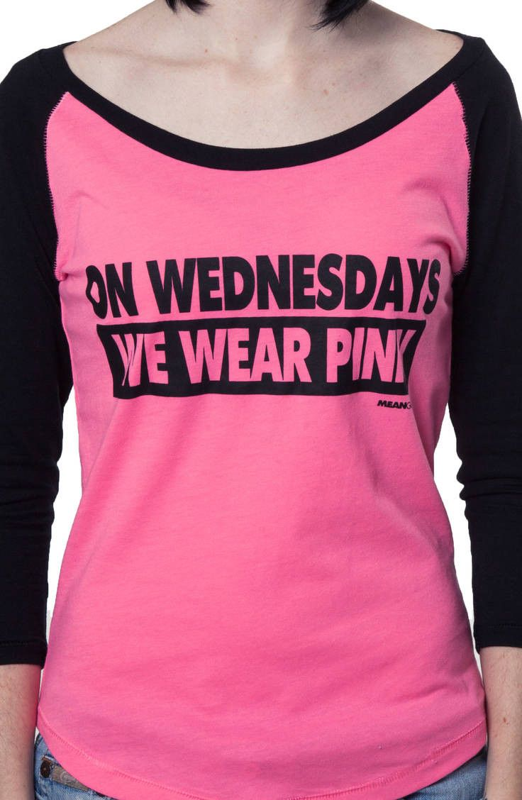 Wednesdays We Wear Pink Mean Girls Shirt | Girl shirts, Girls and ...