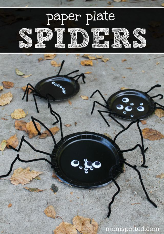 Paper Plate Spiders {Fun Crafts with Mom} Spider and Craft