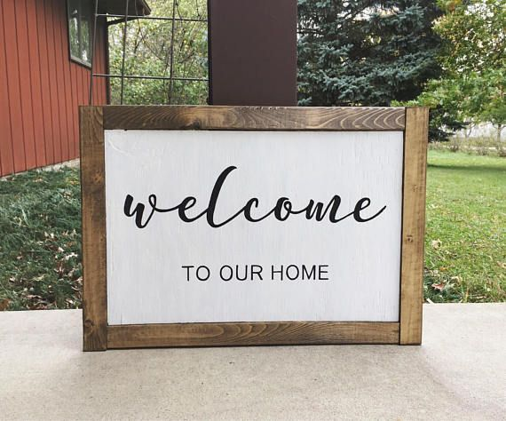Welcome Sign Decor Brilliant Welcome Signwooden Welcome Signrustic Home Decorgift For Review