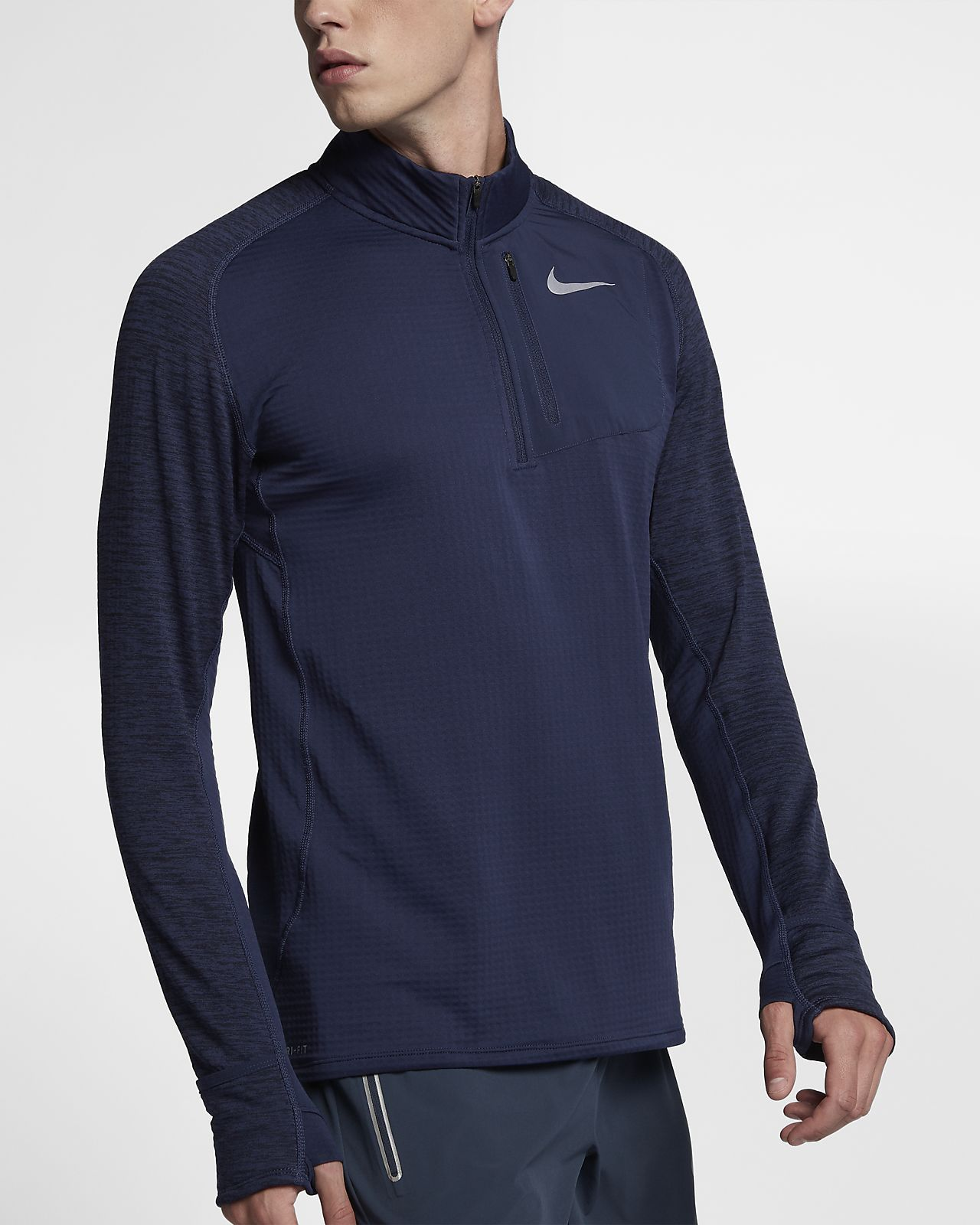 2e8b42aa Nike Therma Sphere Element Men's Long Sleeve Half-Zip Running Top Size M