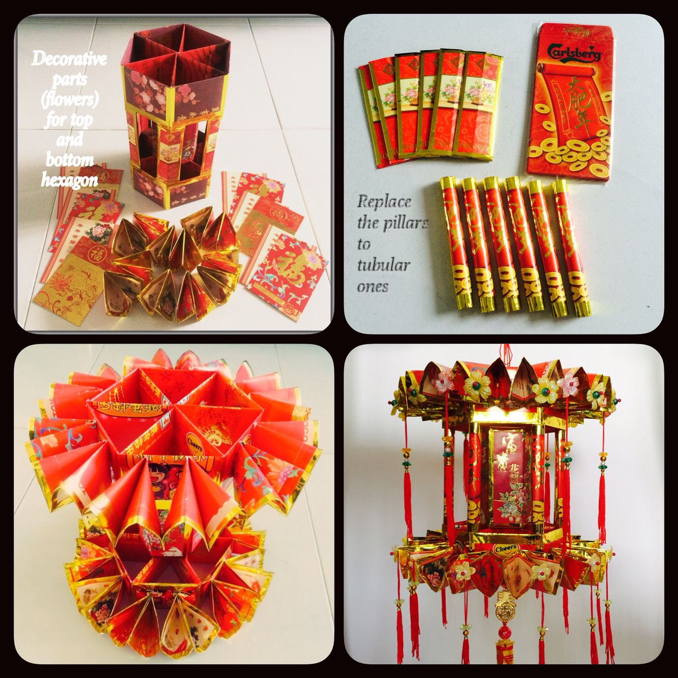 CNY lanterns (2015). First time using the unused angpow