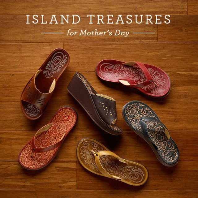 This Mother's Day, give Mom her own unique island treasures. Place your orders by 5/4 for on-time delivery! #Paniolo #PanioloHibiscus #NohoLio http://www.olukai.com/shop/womens/sandals
