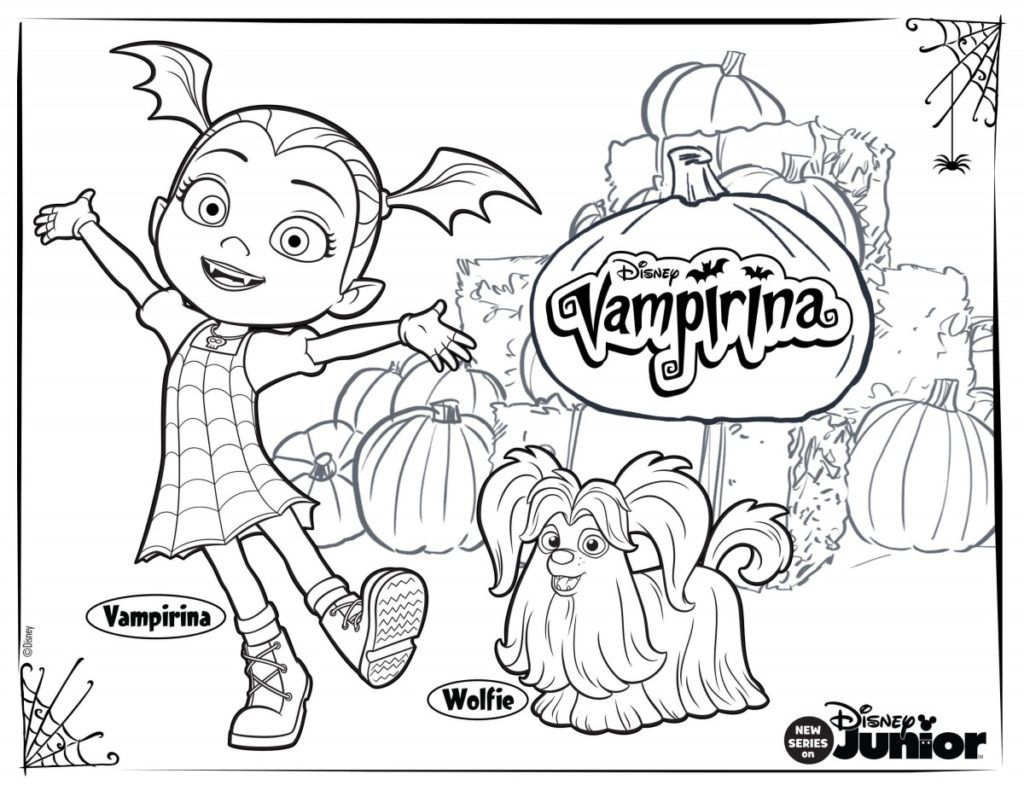 Free Printable Vampirina Coloring Pages Libri Da Colorare