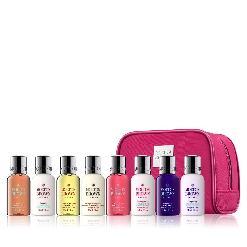 Molton Brown Explore Luxury Womens Bath Body Collection Is A Decadent Mini Set Featuring Our Bestselling Blends In An Elegant Toiletry Bag