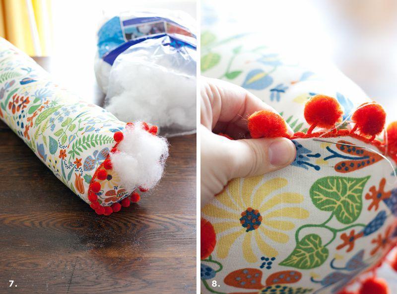 Como hacer un cojin cilindrico | Pillows