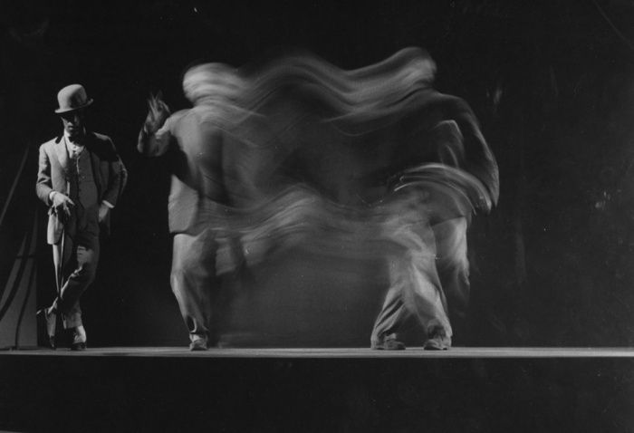 A sequence of dance routine by Sammy Davis, Jr. as Sportin' Life in Porgy and Bess, 1958