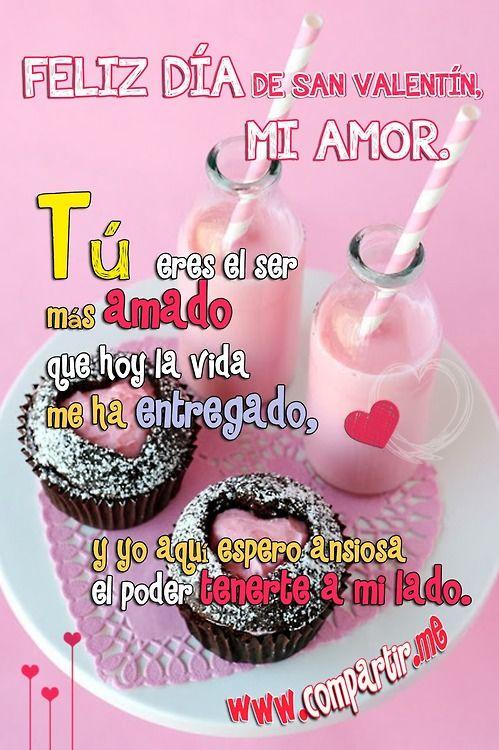 Feliz día de san valentin mi amor 14 de febrero
