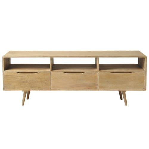 TV-Lowboard im Vintage-Stil aus Mangoholz, B 165 cm Furniture - garten lounge mobel holz
