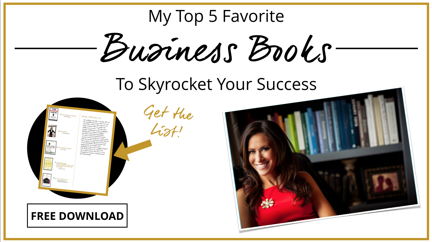 Want a world-class business education? Download my Master List of Favorite Business Books and start learning from the greats!