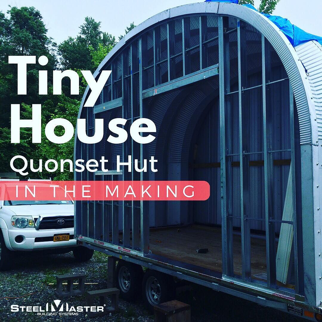 Park Hut Structures: NY Artist Builds Tiny House Quonset Hut™ On Wheels