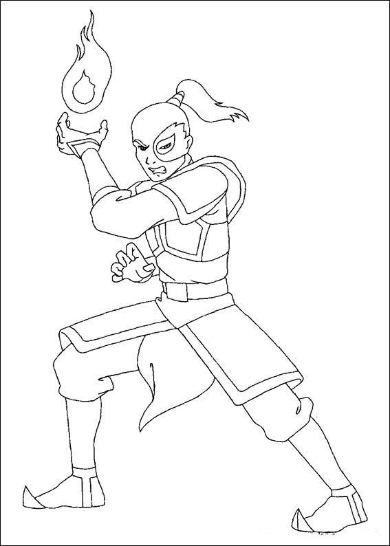 Avatar The Last Airbender Zuko Angry Abstract Coloring Pages