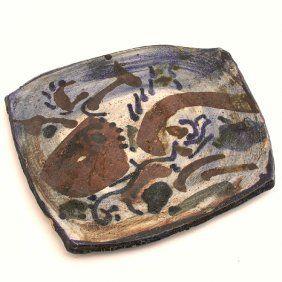 247: Henry Takemoto Studio Pottery Plate : Lot 247