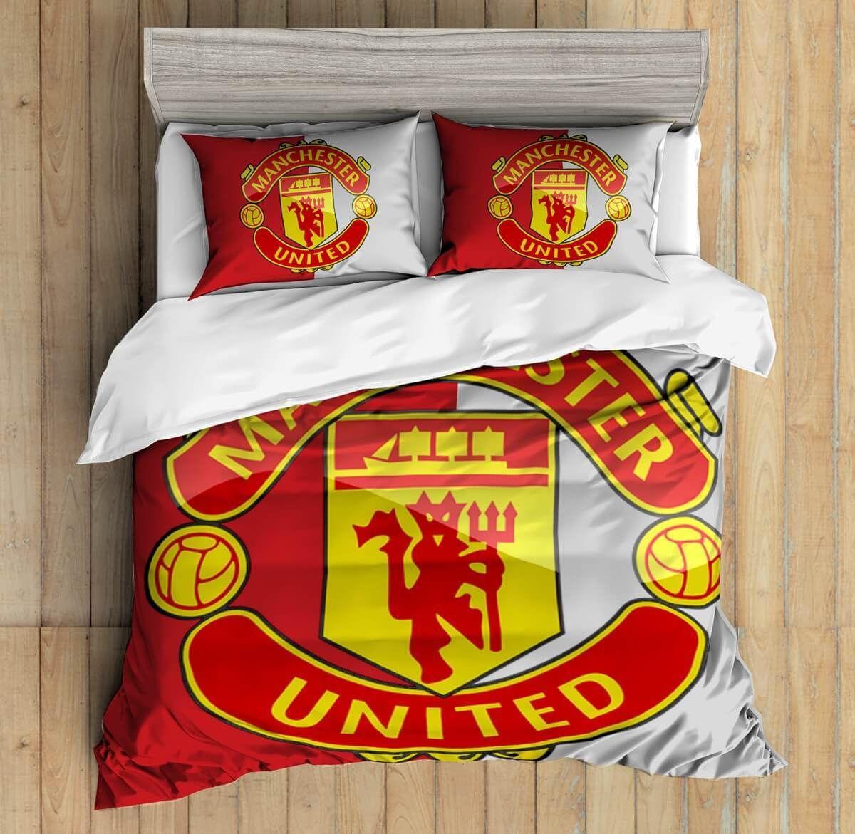 3d Custom Manchester United Bedding Set Duvet Cover Set Bedroom Set Bedlinen Kiwi Bedding Custom Bed Quilt Sets Bedding King Quilt Bedding