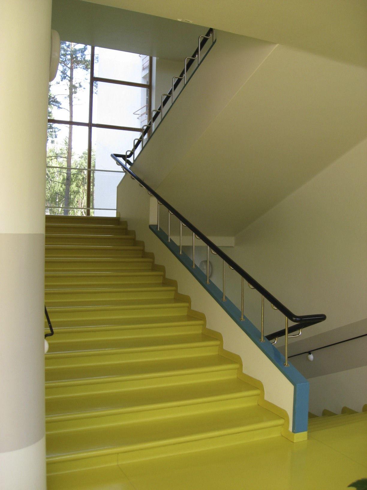 Best The Astonishingly Beautiful Yellow Stairs In Alvar Aalto S 400 x 300