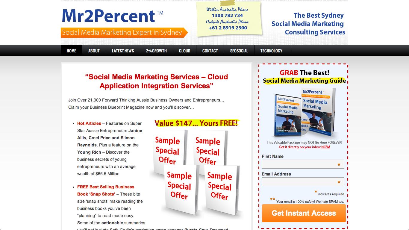 Mr2percent Prototype Using Expert Celebrity Profile Www 99tasks Com Marketing Guide Marketing Services Social Media Marketing