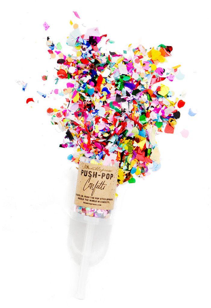 Confetti Push Pop p a r t y Pinterest Confetti and Wedding - confeti