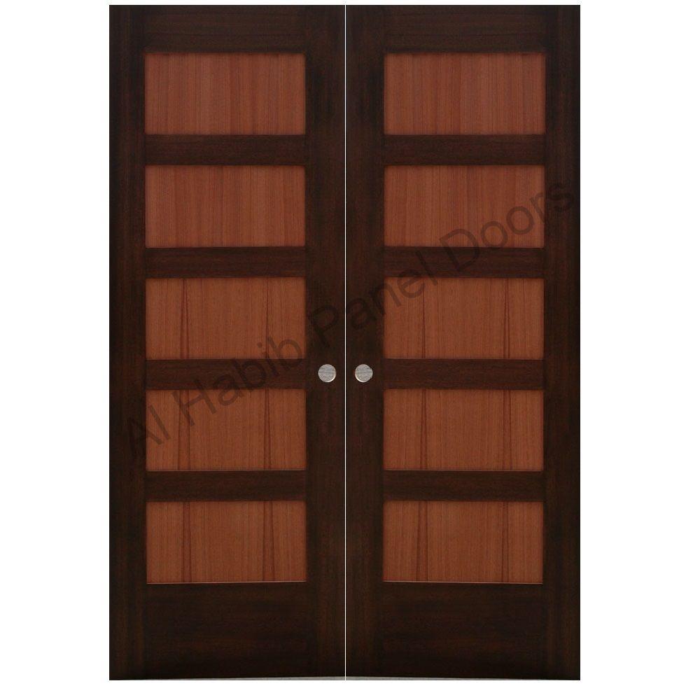 Bedroom Door Designs Ash Wood Double Door Hpd415  Main Doors  Al Habib Panel Doors