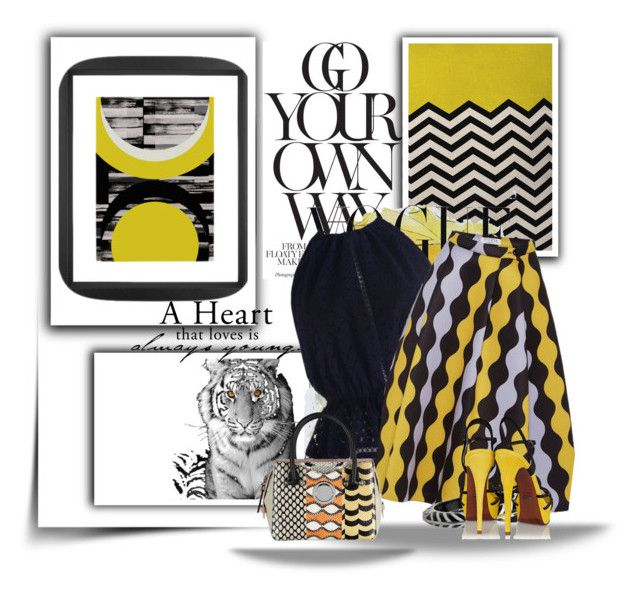 """""""BRIGHT YELLOW AND GREY.."""" by audrey-prater ❤ liked on Polyvore"""