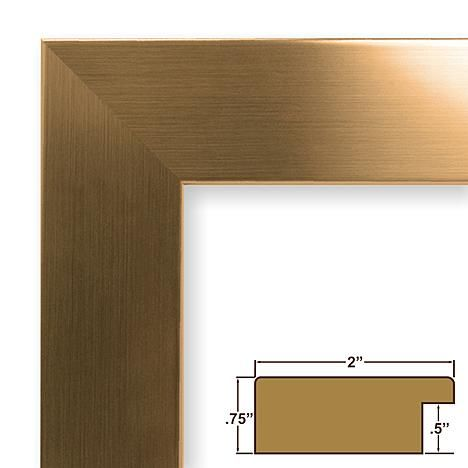 Craig Frames Inc 13 X 19 Champagne Gold Smooth Finish 2 Inch Wide