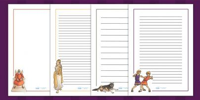 Romulus and Remus Page Borders - romans, roman, rome, writing aid ...