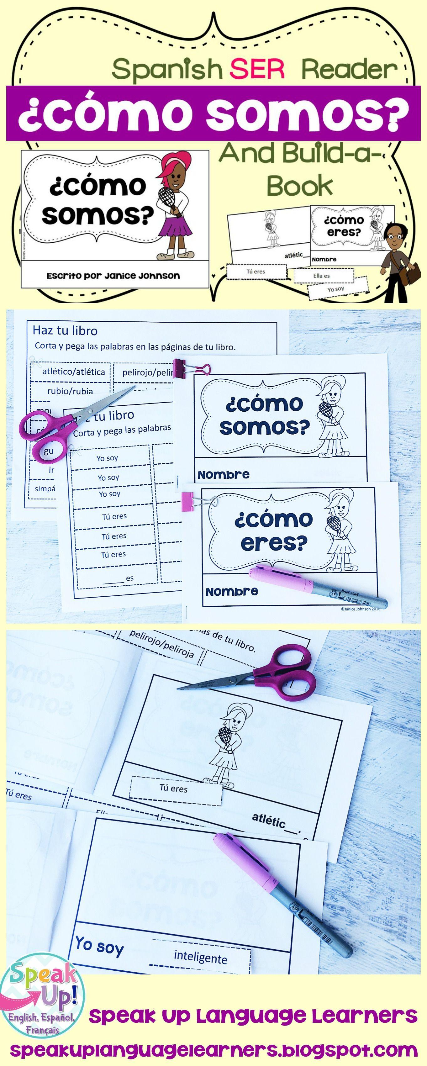 Cómo Somos? Spanish Verb Ser Adjective Reader & Build-A-Book