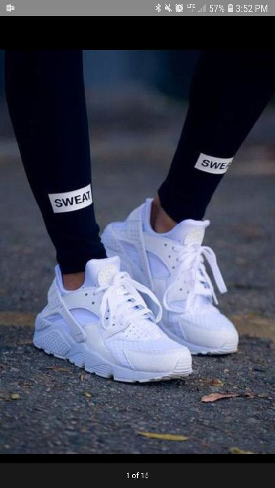 b531280b2288 WOMEN S Nike Air Huarache Run Triple White Running Sizes 5-12  fashion   clothing  shoes  accessories  womensshoes  athleticshoes (ebay link)