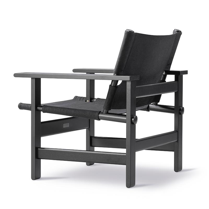 The Black Canvas Chair by Børge Mogensen – Fredericia - ScandinavianDesign.com