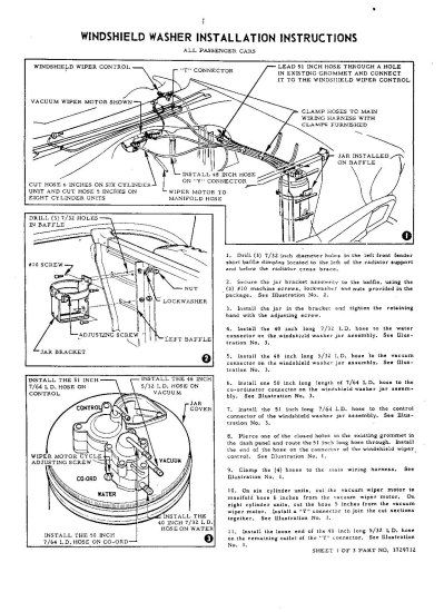 windshield washer vacuum diagram  TriFive, 1955 Chevy