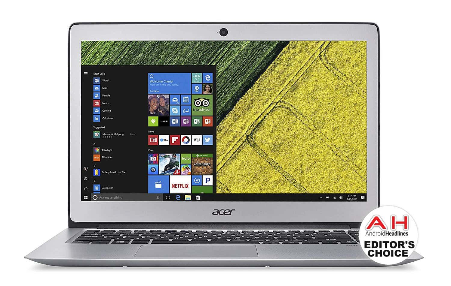 Holiday Gift Guide 2017 2018 Highlight Acer Swift 3 Laptop Acer Swift Acer Intel Core