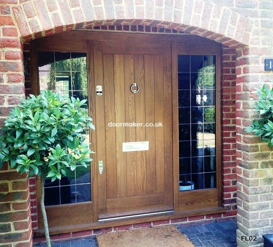 Oak Doors Framed Ledged Door Lead Sidelights Other Woods Painted And